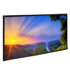 "150"" Inch 16:9 Outdoor Portable Fabric Projection Screens HD Movie Projector UPS"