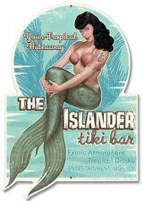 Vintage Sexy Pin Up Girl Blechschild Page Hawaii Tiki Retro Werbung 53 x 38 cm