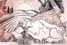 John Milton L'ALLEGRO IL PENSEROSO Wonderful Meninsky Illustrations 1947