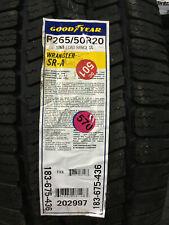 1 New 265 50 20 Goodyear Wrangler SR-A Tire