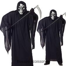 C617 Grim Reaper Scary Horror Robe Halloween Fancy Dress Mens Costume