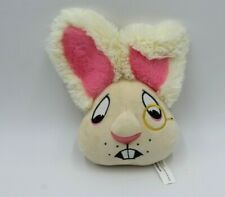 "Bark Box Alice Rabbit White Eye Fob Worried 7"" Bunny Squeak Rare HTF Cream Funny"