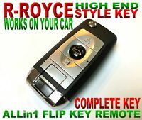 CHROME STYLE FLIP FOR 14-18 FORD TRANSIT CONNECT CHIP KEYLESS CLICKER REMOTE FOB