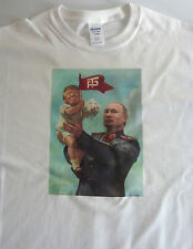T-shirt political, Baby Trump Putin size medium white 100% cotton funny