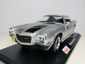Maisto 1/18 Diecast Special Edition 1971 Chevrolet Camaro Silver (SALE)