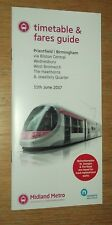 Midland Metro (Birmingham) Tram Timetable and Fares Guide June 2017 Priestfield