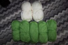 700g SIRDAR bamboo cotton WOOL YARN - GREEN CREAM mix - DK 4mm glossy sheen soft
