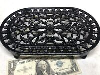 ⭐️Cast Iron French trivet kitchen stand pot vintage cast iron intricate design⭐️