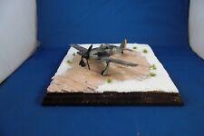 Diorama Flugplatz Winter Holzbohlen universal für Flugzeuge