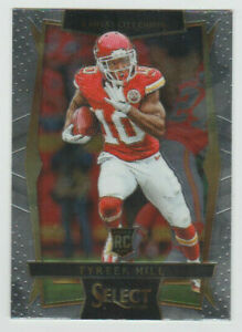 TYREEK HILL Chiefs 2016 Panini Select Rookie Card #65 SP RC See Scans NM-MT HOT