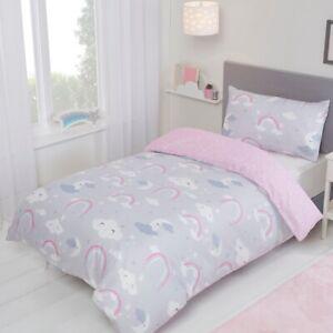 Rainbow Celestial Friends Single Bedding Reversible Duvet Cover & Pillowcase Set