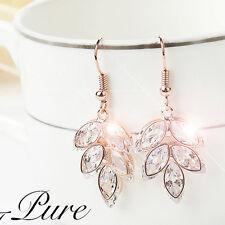 Cubic Zirconia Crystal Christmas Gift Drop Dangle Earrings Wedding Jewellery