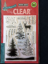 Hero Arts Color Layering Snowy Tree clear stamps