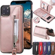 For iPhone 12 Pro 11 XS Max XR SE 6s 7 8 Magnetic Flip Wallet Leather Case Cover