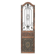Wood Metal Door Panel Wall Decor Sculpture Copper Color Display In Out Patio New