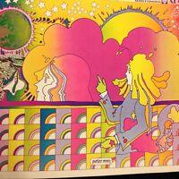 Rare Peter Max Apollo 11 Man Must Moon 1969 Pop Op Psychedelic Art Poster Print