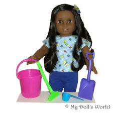 Beach Pail Set For 18 Inch Doll - Fits American Girl Kanani - Toy Accessories
