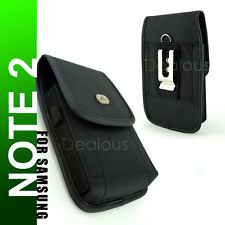 Samsung Galaxy Note 2/3/4 Vertical Rugged Heavy Nylon Holster Pouch Case w/Clip