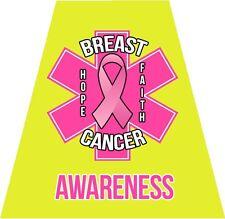 Reflective Helmet Tetrahedron, Yellow EMS Pink Breast Cancer Awareness Ribbon