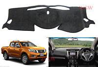 Dash Mat for Nissan Navara Ute NP300 2015-2018 Black Dashmat Dashboard Cover D23