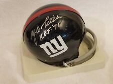Y.A. Tittle (d) HOF 71 Signed NY Giants 2-bar Throwback Mini Helmet - JSA COA