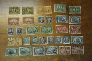 Nice lot of 33 used Canadian stamps