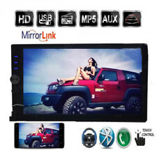 "7"" Double Car Radio Stereo Audio In-Dash MP5 Player 2 Din Bluetooth FM AUX TF"