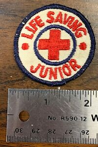 Boy Scouts of America Patch * BSA * Round * Junior Life Saving * More Auctioning