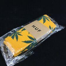 HUF Plantlife Socks! Weed Leaf GOLD