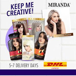 [MIRANDA] Set Coffee Foam Ombre Premium 3D Permanent Hair Dye Color + Bleach