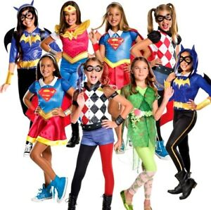 Child Superhero Girls DC Comic Halloween Fancy Dress Costume Kids Book Day World