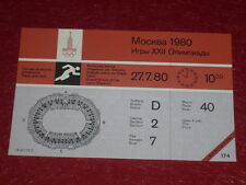JEUX OLYMPIQUES OLYMPIC GAMES MOSCOU 1980 TICKET ATHLETISME 27.7.80 (10h00) TTBE