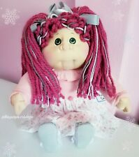 New ListingCabbage Patch Soft Sculpture 2020 Christmas Edition Lpk Pink Hair Green Eyes