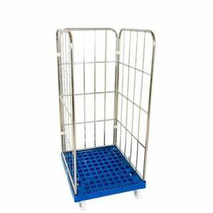 Gittercontainer Gitterrolli 3 Seitig Kunststoffboden Traglast 500 KG