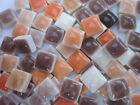 """450pcs Micro Mosaic Tiles Orange  Brown Mix 3/8"""" stock in US"""