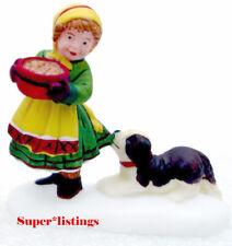 Dept. 56 A New Batch of Christmas Friends Girl w. Saint Bernard Puppy Alpine 561