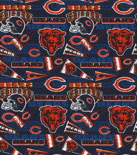 CHICAGO BEARS COTTON FABRIC 1/4 yard 9