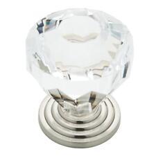 :) (QTY/12) Brainerd Satin Nickel and Clear Round Cabinet Knob #P23944W-116-C