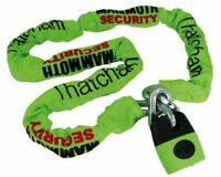 Mammoth Security Lock & 12mm chain x 1.8m -Thatcham Approved