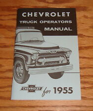 1955 Chevrolet Truck Second Series Owners Operators Manual 55 Chevy