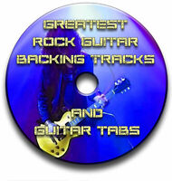 130 GREATEST ROCK GUITAR BACKING TRACKS & TABS TABLATURE JAM TRACKS DVD