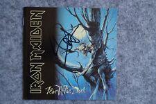 Iron Maiden - Fear of the Dark CD Album signed / autograph / signiert