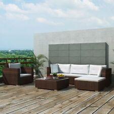 #Luxury 17PC Wicker Rattan Garden Outdoor Sofa Lounger Couch Furniture Set Brown