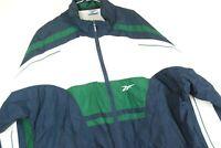 Vintage 90s Reebok Full Zip Windbreaker Jacket Lightweight Color Block Mens XL