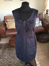 28686d17f61 Blue Cotton Boden Shift Dress With Bow Size 12