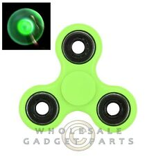 Triangle Fidget Spinner - Green Glow in the Dark Circles Bearing Focus EDC ADHD