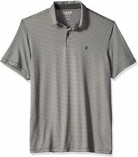 Izod Mens Top Gray Black Size Medium M Activewear Short Sleeve Golf $42- #422