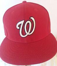 Washington Nationals New Era Sideline 59FIFTY Baseball Cap MLB Red SIZE 7 1/4