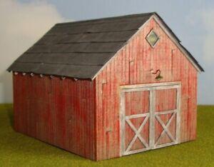 "FOS Scale Custom Built HO Scale Wood Model 'Machine Shed"""