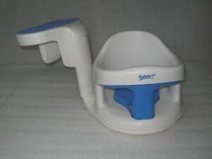 Safety First 1st Tubside Swivel Baby Bath Tub Seat Chair Ring Bathtub White Blue
